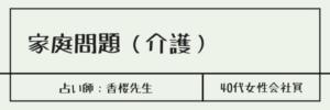 家庭問題(介護) 占い師:香桜先生